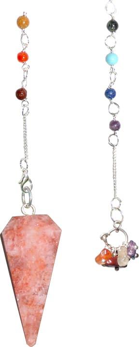 Pendulum - Facet - 7 Chakras Solar Stone