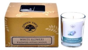 Fragrance candle motif White Flowers