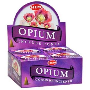 HEM Incense Cone Opium (12 packets)
