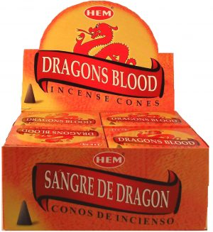 HEM Incense Cone Dragon Blood (12 packets)