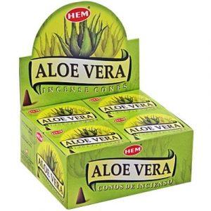 HEM Incense cone Aloevera (12 packets)