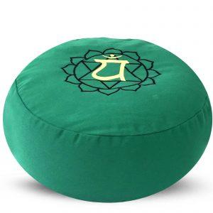 Around Meditation Pillow with Buckwheat Fill - Heart  Chakra