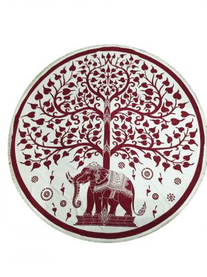 Round Cotton Cloths - Elephant and Tree