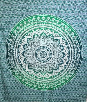 Cotton Cloth - Lotus - Mandala - Green