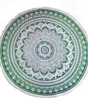Round Cotton Cloths - Lotus - Green