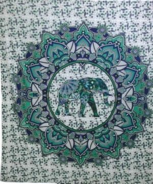 Cotton Cloth - Elephant - Green