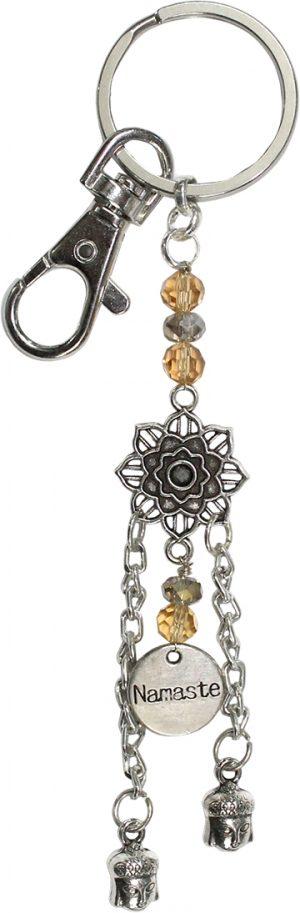 Dream catcher Keychain Lotus Namaste