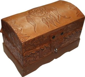 Leather Tarot Box with Dream Catcher
