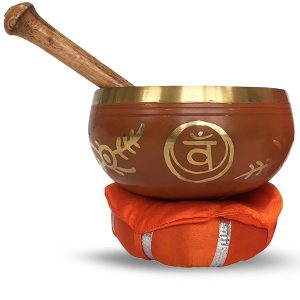 Singing Bowl with Beater and Cushion - Sacral Chakra
