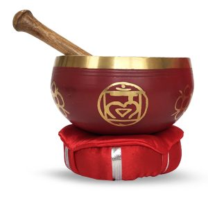 Singing bowl with Knocker and Pillow - Root Chakra