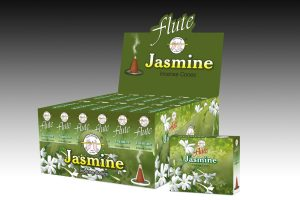 Flute Incense Cone Jasmine (6 packets)