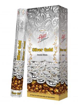Flute Incense Silver Gold (6 packs)