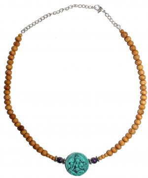 Sandalwood Adjustable Chain - Turquoise Tara