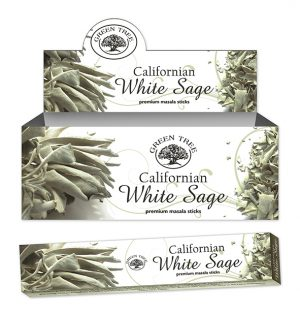 Green Tree Incense Californian White Sage (12 packages)