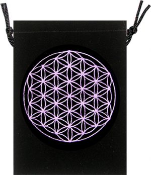 Velvet Bag - Flower of Life Design