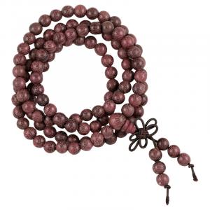 Mala Violet Wood Elastic 108 Beads