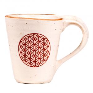 """Tea and coffee mug """"Flower of Life""""."""