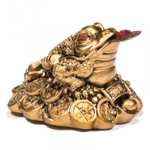 Mini statue Feng Shui Frog Gold - 5 cm