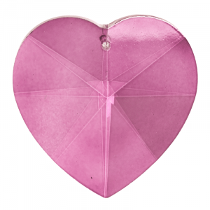 Rainbow Crystal Heart shape Pink