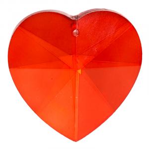 Rainbow Crystal Heart shape Red