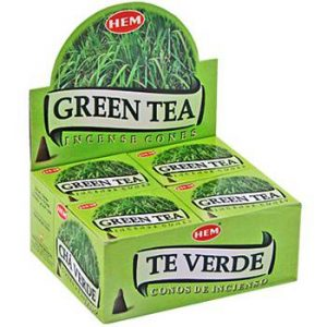 HEM Incense Cone Green Tea (12 packets)