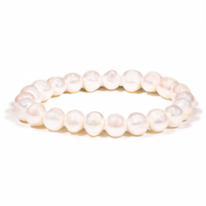 Bracelet White Potato Pearls