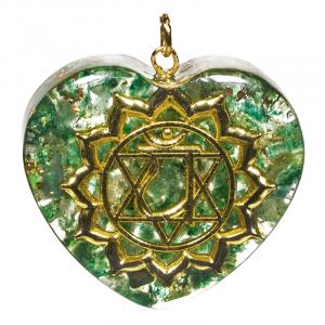 Orgon Pendant Fourth Chakra Heart shaped