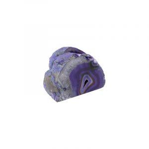 Tea light holder Agate Purple