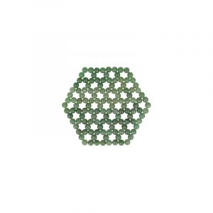 Aventurine Green Flower of Life Coaster - Mattress