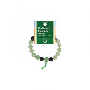 Powerbead Men's Bracelet Aventurine Green (Model 2)