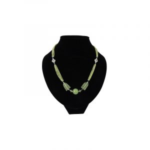 Bohemian Chain Jade - 3 strands with Bol