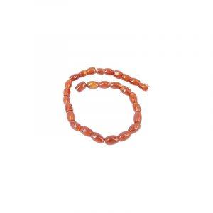 Beads Beam Carnelian Oval Dark (11 mm)