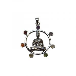 Gemstone Pendant Chakra Buddha Round