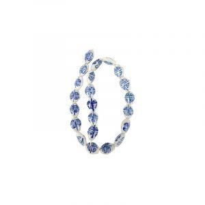 Kralen Streng Delfts Blauw Ovaal (17 mm)