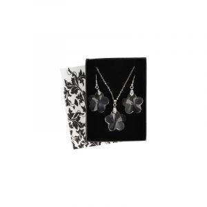 Pendant and Earrings Set Feng Shui Flower