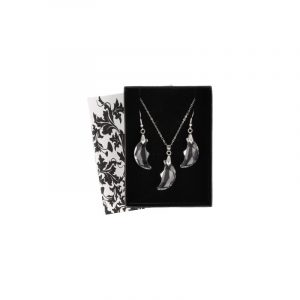 Pendant and Earrings Set Feng Shui Moon