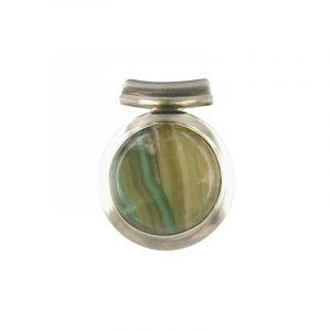 Silver Pendant Fluorite (Model 8)