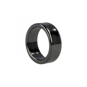 Gemstones Ring Hematite Flat (8 mm - Size 20)