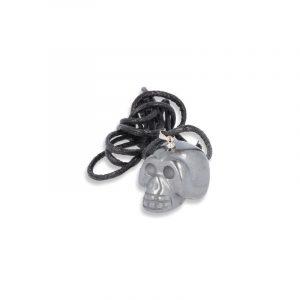 Skull Hanger Hematite on Cord