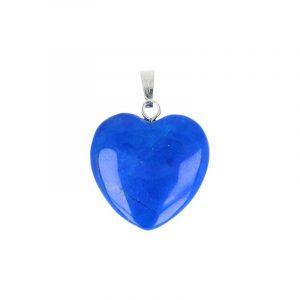 Heart-shaped Gemstones Pendant Howlite Blue (20 mm)