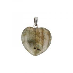 Hartvormige Edelstenen Hanger Labradoriet (20 mm)
