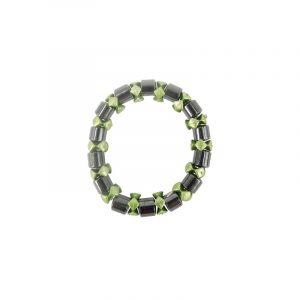 Magnetic bracelet Hematite Green