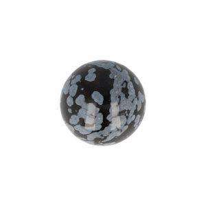 Sphere of Gemstone Obsidian Snowflake (20 mm)
