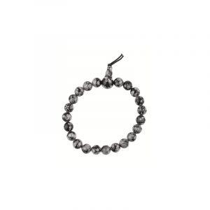 Powerbead Bracelet Obsidian Snowflake
