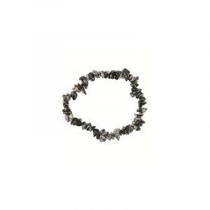 Split bracelet Obsidian Snowflake