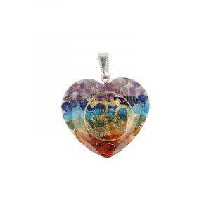 Orgon Hanger Heart shaped Gemstones Chakra