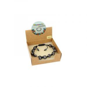 Gemstones Shamballa Bracelet Hematite