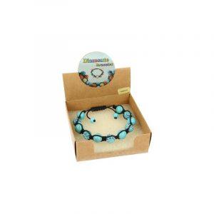 Gemstones Shamballa Bracelet Howlite Blue