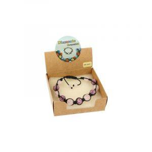 Gemstones Shamballa Bracelet Pink Quartz