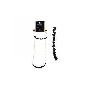 Chain and Bracelet Bar Tourmaline Black (Set)